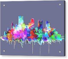 Pittsburgh Skyline Watercolor 3 Acrylic Print