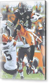 Pittsburgh Steelers Antonio Brown 4 Acrylic Print by Joe Hamilton