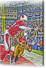Pittsburgh Steelers Oil Art 1 Acrylic Print by Joe Hamilton