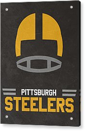 Pittsburgh Steelers Vintage Art Acrylic Print by Joe Hamilton