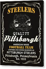 Pittsburgh Steelers Whiskey Acrylic Print by Joe Hamilton