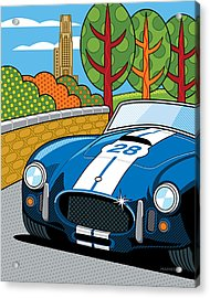 Pittsburgh Vintage Grand Prix Acrylic Print by Ron Magnes