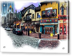 Pittsburgh's Market Square Acrylic Print by Mattucci Photography