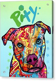 Acrylic Print featuring the painting Pity by Dean Russo