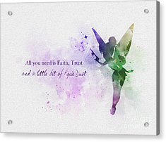 Pixie Dust Acrylic Print by Rebecca Jenkins