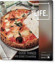 Pizza Acrylic Print by Italian Art