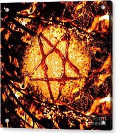 Pizzagate Inferno Acrylic Print