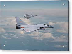 Acrylic Print featuring the photograph Plaaf J10 - Vigorous Dragon by Pat Speirs