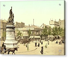Place Clichy In Paris Acrylic Print by French School