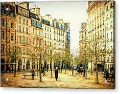Place Dauphine Paris Grunge Acrylic Print