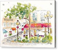 Place De La Contrescarpe Paris Acrylic Print by Pat Katz