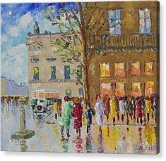 Place De La Madeleine Acrylic Print