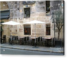 Place Des Victoires Cafe Acrylic Print by Suzanne Krueger