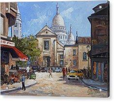 Place Du Tertre, Montmartre Acrylic Print