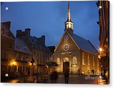 Place Royale And Notre-dame-des-victoires Church Acrylic Print by Hideaki Sakurai
