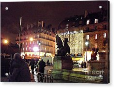 Acrylic Print featuring the photograph Place Saint-michel by Felipe Adan Lerma