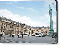 Acrylic Print featuring the photograph Place Vendome by Christopher Kirby