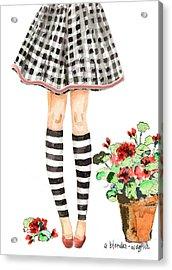 Plaid And Stripes Acrylic Print