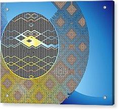 Acrylic Print featuring the digital art Plaid by Lynda Lehmann