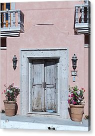 Plain Door Acrylic Print by James Johnstone