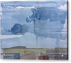 Plain Rain Acrylic Print by Vaughan Davies