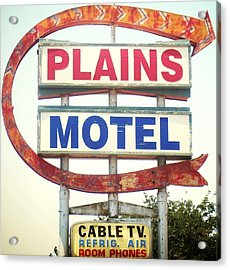 Plains Motel Acrylic Print