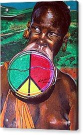 Plains Of Peace Acrylic Print by Andre Ajibade