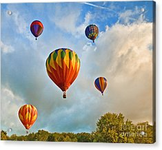 Plainville Balloons 2 Acrylic Print