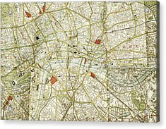 Acrylic Print featuring the photograph Plan Of Central London by Patricia Hofmeester