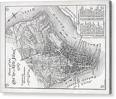 Plan Of The City Of New York Acrylic Print by American School