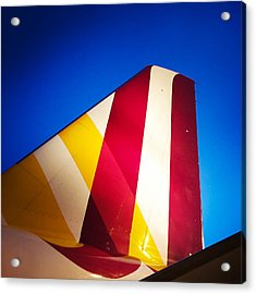 Plane Abstract Red Yellow Blue Acrylic Print