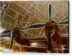Plane In The Hanger Acrylic Print by Paul Ward