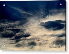 Acrylic Print featuring the photograph Plane In The Sky by Paul SEQUENCE Ferguson             sequence dot net
