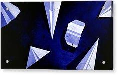 Planes On Blue Acrylic Print by Lucas Boyd