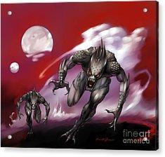 Planet Alien  Acrylic Print by Frank Bonnici