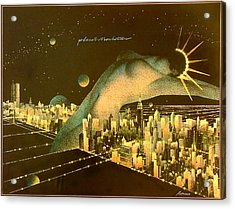 Planet Manhattan Acrylic Print by Gary Kaemmer