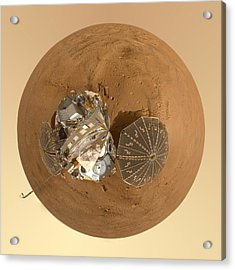 Planet Mars Via Phoenix Mars Lander Acrylic Print by Nikki Marie Smith