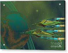Planet Of Origin Acrylic Print by Corey Ford
