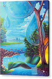 Planeta Agua Acrylic Print by Leomariano artist BRASIL