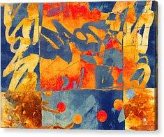 Planetary Celebration Acrylic Print by Carol Leigh