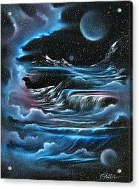 Planetary Falls Acrylic Print by David Gazda
