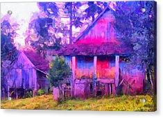 Plank Homes Acrylic Print
