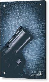Planning The Heist Acrylic Print by Edward Fielding