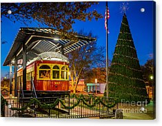 Plano Trolley Car Acrylic Print by Inge Johnsson
