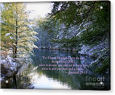 Plans Of Hope Acrylic Print by Debra Straub