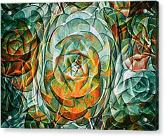Acrylic Print featuring the photograph Plant Abstract by Wayne Sherriff