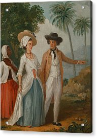 Planter And His Wife, With A Servant Acrylic Print by Agostino Brunias