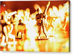 Acrylic Print featuring the photograph Plastic Army Men 1 by Micah May