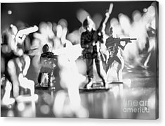 Acrylic Print featuring the photograph Plastic Army Men 2 by Micah May