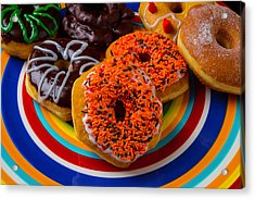 Plate Of Donuts Acrylic Print by Garry Gay
